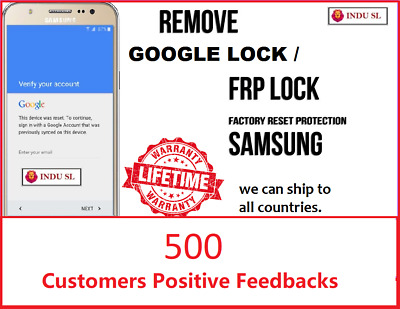FRP Lock (Google Lock) Remove Service For All Samsung Models
