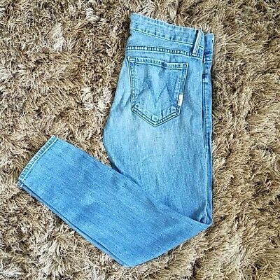 MOTHER Jean Denim Looker Crop French Quarter Wash Skinny Jeans: 27 W