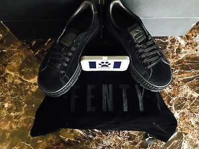brand new 6e57d 87d59 PUMA FENTY BY Rihanna Cleated Creeper Suede Black 366268-04 Women's Size  8.5-9.5