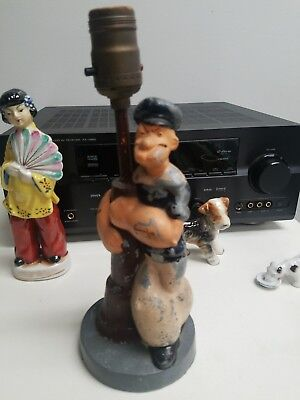 Popeye the Sailor Man 1935 Antique Vintage Idealite Table Lamp Rare Item.