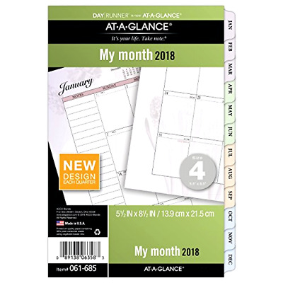 AT-A-GLANCE Day Runner Monthly Planner Refill, January 2018 - December 2018, 5-