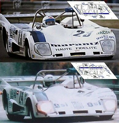 Calcas Lola T298 Le Mans 1981 31 1:32 1:43 1:24 1:18 decals