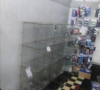 Glass Cube Store Display Fixture Collectors Shelving Retail holds 19 items + Top