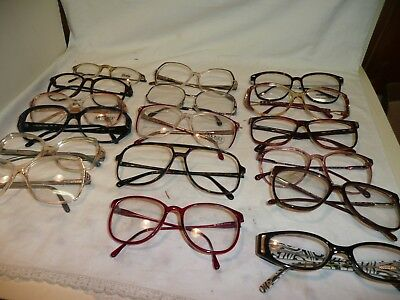 True Vintage Men's LOT of 17  Plastic  1970's/80's Eyeglasses Frames