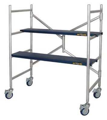 Metaltech 4ft Scaffold 600lb Capacity Scaffolding Rolling Drywall Platform NEW