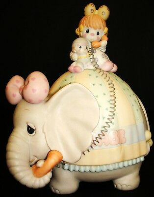Precious Moments Let's Keep In Touch Clown Elephant Music Box Figurine In Box