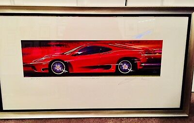"Ferrari Art Limited edition print by Jay Koka ""Color of Speed #6"" Sold out"