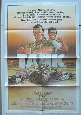 Tank Original Folded Mint 27X41 Movie Poster 1984 James Garner Us Army Military