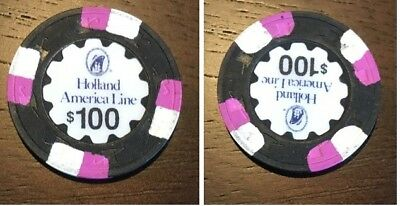 Holland America Line Cruise Ship $100 Casino Chip - From 2017 Cruise