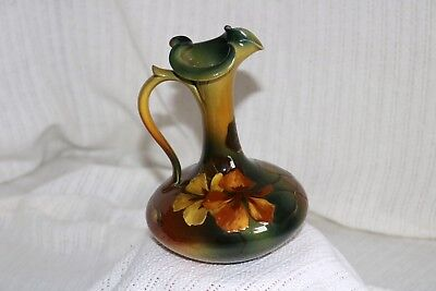 Rookwood Pottery Signed Mary Nourse 468DW Left Handed Flowers Ewer Pitcher