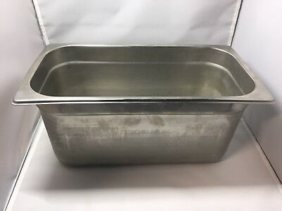 "6 NSF  Pans 1/3 Size 6"" Deep Steam Table Pan 18-8 stainless steel-restaurant"