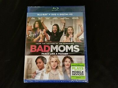 Bad Moms Blu ray+DVD+Digital New