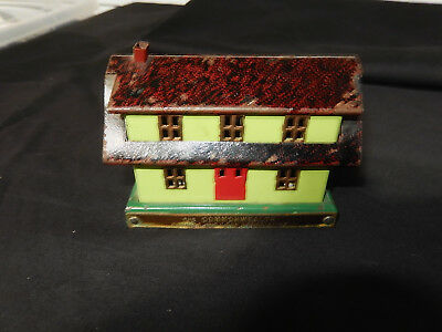 Bankers Thrift Coin bank House Original Save for a Home Metal Bank Nice