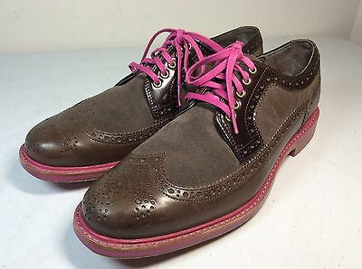 Mens Cole Haan Wing Tip Size 9 1/2 M Shoes Purple Violet Rare