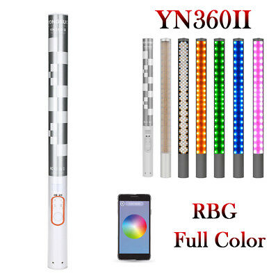 Yongnuo YN360 II 3200K-5500K Handheld Bicolor LED Video Light RGB Colorful Stick