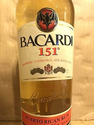 Bacardi 151 Rum Sealed Bottle Discontinued 750mL *RARE*