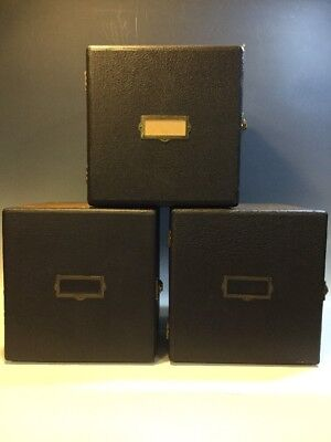 Set of 3 Retro 1950's Barnett & Jaffe Tweed Baja 8-Drawer Cube Storage Cases
