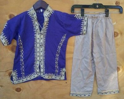 Kids Boys Sherwani Kurta Traditional Wedding Indian Outfit Shirt Pants Size 6 yr