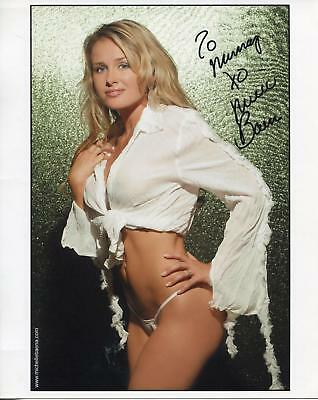 Michelle Baena Playboy Magazine Model Signed Color Photo Autograph Sexy !