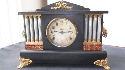 Antique Ingraham 8 day Gonging Mantle Clock  Early 1900s'!