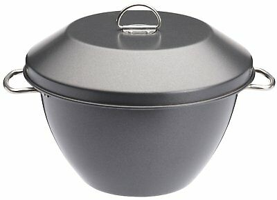 MasterClass Non-Stick Pudding Basin/Steamer Bowl With Lid, 2 Litre 3.5 Pint
