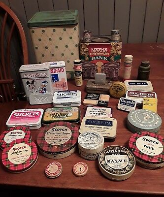 Lot Of Assorted Advertising Tins