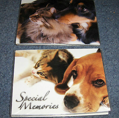 """Lot Of Two """"special Memories"""" Photo Folders For Pet Pictures"""