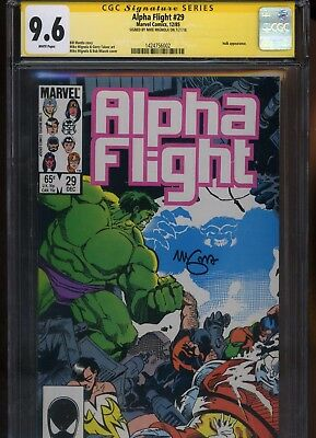 Alpha Flight #29 CGC 9.6 SS Mike Mignola 1985 INCREDIBLE HULK Bill Mantlo
