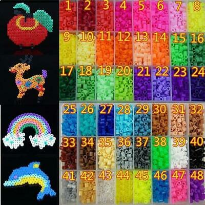 250 PCS 5MM PP HAMA/PERLER BEADS DIY Toy For Child Kids Gifts 50 Colors