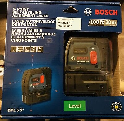 Bosch GPL5S Point Self-Leveling Plumb and Square Laser