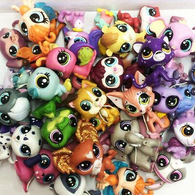 random Lot 15PCS Hasbro Littlest Pet Shop Animals Figure Boy Girl Cute Toy Dolls