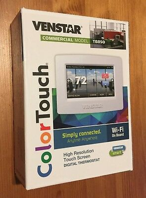 Brand New - Venstar WiFi Digital Thermostat Commercial Model T8850 Color Touch
