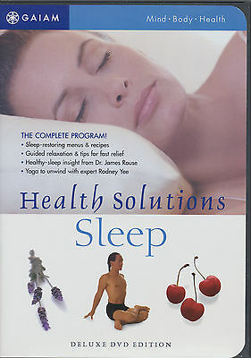 GAIAM ~ HEALTH SOLUTIONS SLEEP ~ DELUXE DVD EDITION new