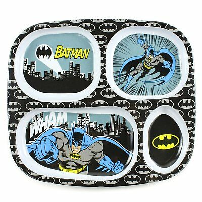 Bumkins DC Comics Batman Melamine Divided Plate