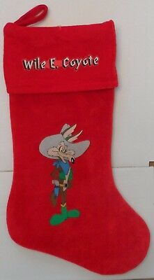 Wile E. Coyote Red Christmas Stocking Looney Tunes & Merrie Melodies Cartoons