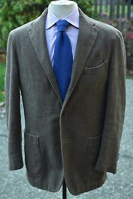 BOGLIOLI Coat Herringbone Cotton Patch Pocket Unstructured Blazer ITALY 40 Slim