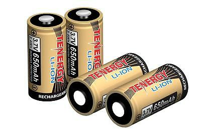 4x CR123 3.7V 650mAh LiIon 16340 (RCR123A) Rechargeable Batteries for Arlo