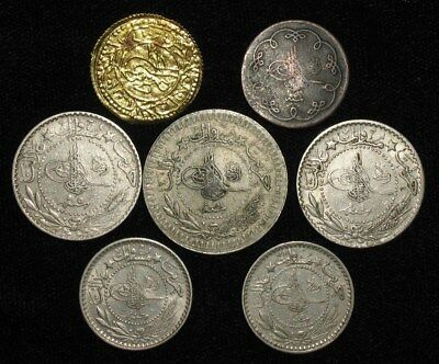 7 Coins from Turkey.  1902-1916.   No Reserve!!!