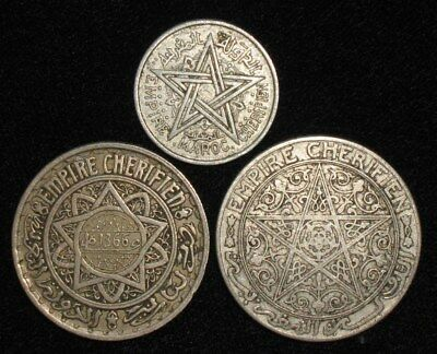 3 Coins from Morocco.  No Reserve!!