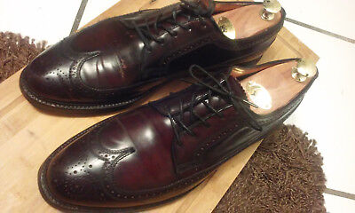 FLORSHEIM ROYAL IMPERIAL Vintage Shell Cordovan Brogues Long Wing USA 11.5D