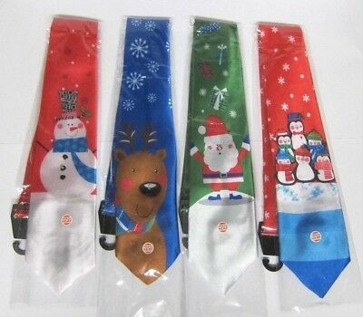 CHRISTMAS Holiday Musical LIGHT UP+SOUND TIE w/ Frosty Rudolph Santa or Penguins