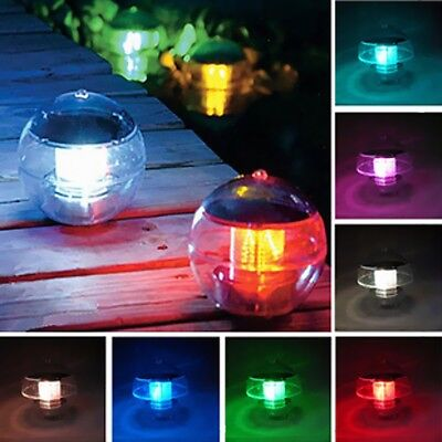 Solar Floating Ball Underwater LED Light Swimming Pool Outdoor Garden Party Lamp