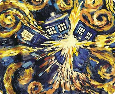 DOCTOR WHO Van Gogh Exploding Tardis Cartoon Mouse Pad