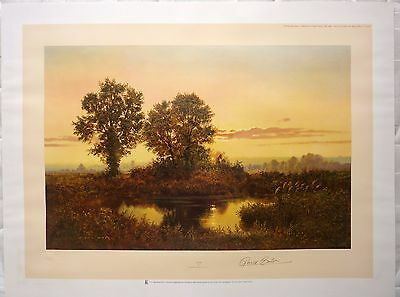 Gerald Coulson Dusk Signed Limited Edition of 850 Print 1986 75x60cm Stamped
