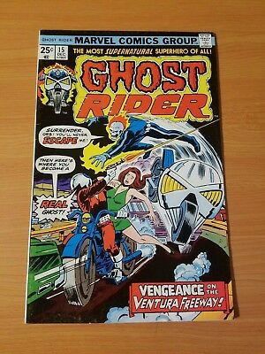 Ghost Rider #15 ~ VERY FINE - NEAR MINT NM ~ (1975, Marvel Comics)