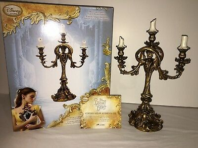 Disney Beauty And The Beast Lumiere Live Action LIMITED EDITION Candelabra w/COA