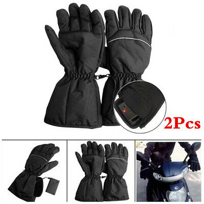 New Waterproof Rechargeable Electric Battery Powered Heated Gloves Winter Warmer