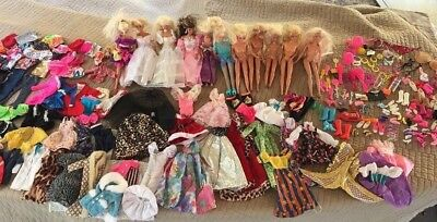 Huge! Barbie Doll Lot Of 265 Pieces- Dolls Clothes, And Accessoires!