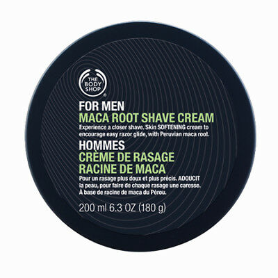 New Vegetarian The Body Shop Mens Shaving Cream Maca Root Essence Smooth Shave