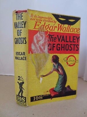 1935 Edgar Wallace Hodder Yellowjacket Valley of Ghosts 35th REAL dust jacket